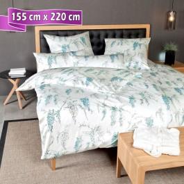 Bettwäsche Janine Messina pastelltürkis 155 cm x 220 cm