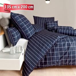 Bettwäsche Janine modernclassic 39025 nachtschattenblau 135 cm x 200 cm