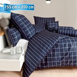 Bettwäsche Janine modernclassic 39025 nachtschattenblau 155 cm x 200 cm