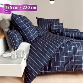 Bettwäsche Janine modernclassic 39025 nachtschattenblau 155 cm x 220 cm