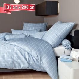 Bettwäsche Janine modernclassic 39025 perlblau 135 cm x 200 cm