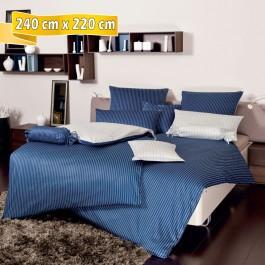 Bettwäsche Janine modernclassic 3936 dunkelblau 240 cm x 220 cm