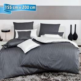 Bettwäsche Janine modernclassic 3936 schwarz 155 cm x 200 cm
