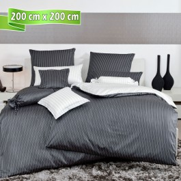 Bettwäsche Janine modernclassic 3936 schwarz 200 cm x 200 cm