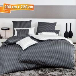 Bettwäsche Janine modernclassic 3936 schwarz 200 cm x 220 cm