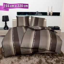 Bettwäsche Janine Monza 3797 nougat 155 cm x 220 cm