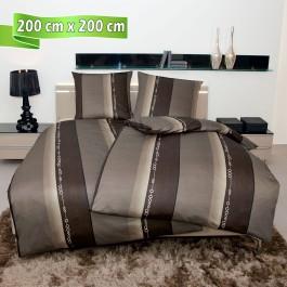 Bettwäsche Janine Monza 3797 nougat 200 cm x 200 cm