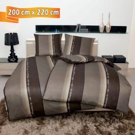 Bettwäsche Janine Monza 3797 nougat 200 cm x 220 cm