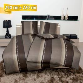 Bettwäsche Janine Monza 3797 nougat 240 cm x 220 cm