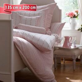 Bettwäsche Janine Romantico 4647 rosé 135 cm x 200 cm