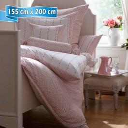 Bettwäsche Janine Romantico 4647 rosé 155 cm x 200 cm