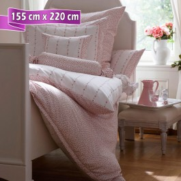 Bettwäsche Janine Romantico 4647 rosé 155 cm x 220 cm