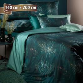 Bettwäsche Curt Bauer Abiona greenerey 140 cm x 200 cm Satin (