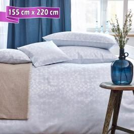 Bettwäsche Curt Bauer CLEO silver blue 155 cm x 220 cm