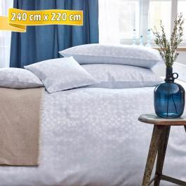 Bettwäsche Curt Bauer CLEO silver blue 240 cm x 220 cm