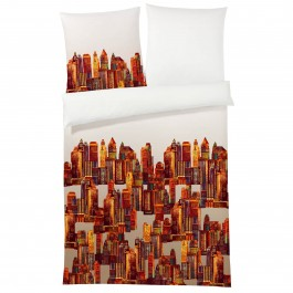 Bettwäsche Elegante Empire State 2126 orange
