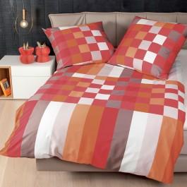 Bettwäsche Janine J.D. 8476 orange-rot