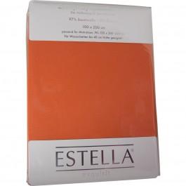 Spannbetttuch Estella Zwirn-Jersey 6900 terracotta