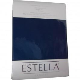Spannbetttuch Estella Zwirn-Jersey 6900 saphir