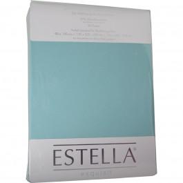Spannbetttuch Estella Zwirn-Jersey 6900 azur