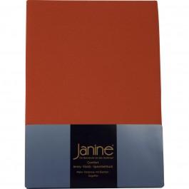 Spannbetttuch Janine Elastic Jersey 5002 rost-orange