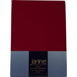 Spannbetttuch Janine Jersey 5007 granat