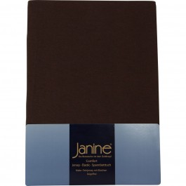 Spannbetttuch Janine Elastic Jersey 5002 dunkelbraun