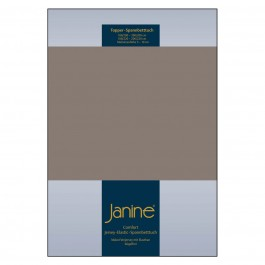 Topper-Spannbetttuch Elastic Jersey 5001 taupe
