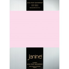 Spannbetttuch Janine Elastic Jersey 5002 zartrosa