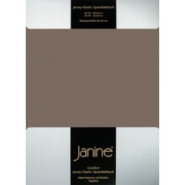 Spannbetttuch Janine Elastic Jersey 5002 capuccino